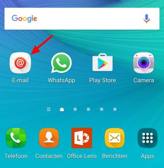 Klik op het Mail icoon