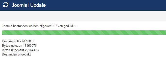 Patchman zegt dat ik Joomla moet updaten maar Plesk geeft geen melding, wat moet ik doen?