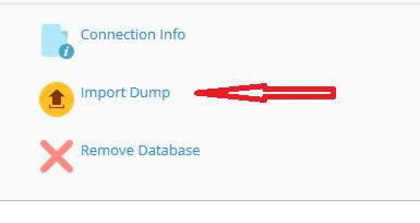 Hoe importeer ik een database?
