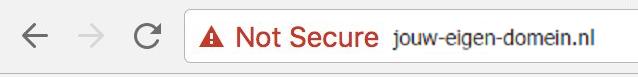 Waarom geeft Google Chrome een melding bij niet-beveiligde websites?