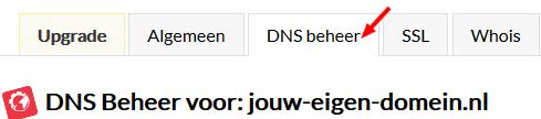 Klik op DNS Beheer