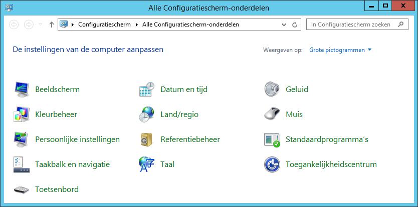 Open het Configuratiescherm en klik op Standaardprogramma's