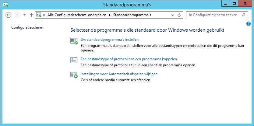 Klik op 'Uw standaardprogramma's instellen'